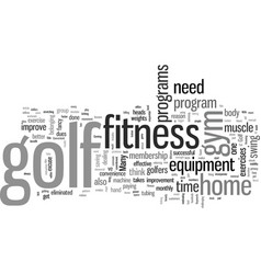 In home golf fitness is easy and convenient vector