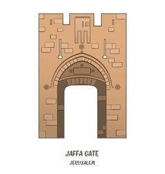 Jaffa gate in jerusalem vector