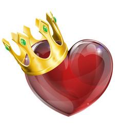 King of hearts concept vector