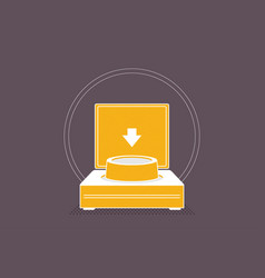 launch button icon vector image
