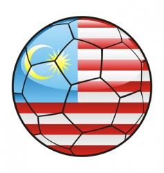 Malaysia flag on soccer ball vector
