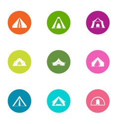 Marquee icons set flat style vector