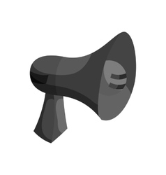 Megaphone icon black monochrome style vector image