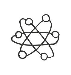 molecule atom isolated icon vector image