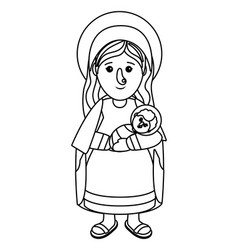 nativity mary cartoon vector image