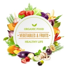 Natural Organic Food Background vector image vector image