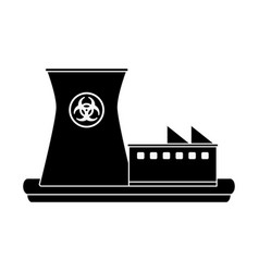 Nuclear plant industry vector