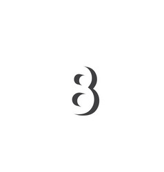 Number 8 3d template design vector