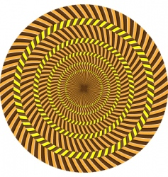 optical illusion vector image vector image