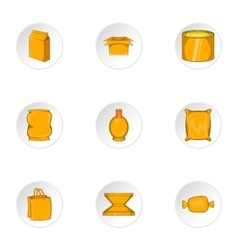 Package icons set cartoon style vector image