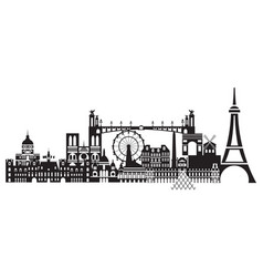 Paris city skyline 1 vector