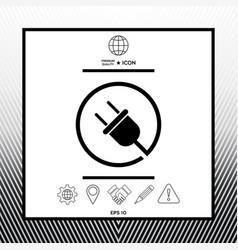 plug in round icon vector image