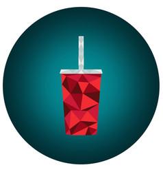Polygonal cola cup vector