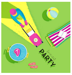 Poster backyard party vector