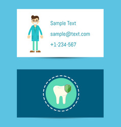 professional business card for dentists vector image