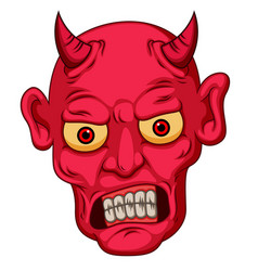 Red cartoon style devil face vector