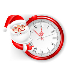 Santa claus and clock vector