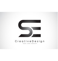 Se s e letter logo design creative icon modern vector