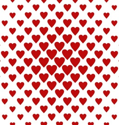 Seamless red heart pattern background vector