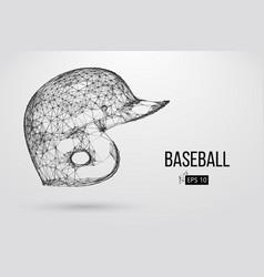silhouette a baseball helmet vector image
