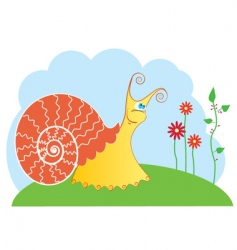 snail cartoon vector image