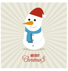 snow man with pattern background vector image