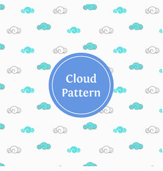 stylish cloud pattern background vector image