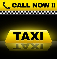 Taxi design vector image