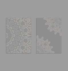 Templates for greeting and business cards vector