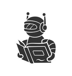 Text reading bot glyph icon screen reader vector