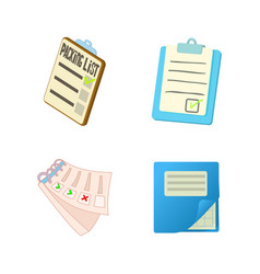To do list icon set cartoon style vector