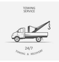Truck for towing and recovery vector