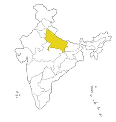 Uttar pradesh vector
