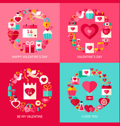 Valentine day concepts set vector