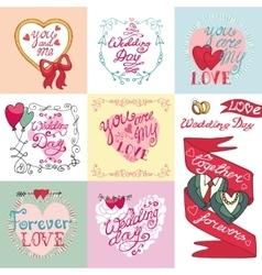Wedding card setInvitationsLabelsdecorative vector