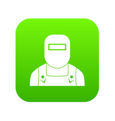 welder icon digital green vector image