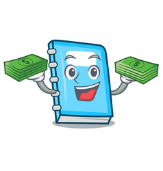with money education mascot cartoon style vector image