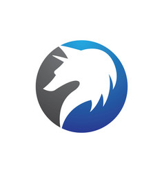 wolf logo template icon vector image
