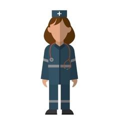 Woman paramedic urgency wearing uniform vector