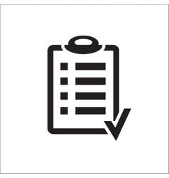 Action plan clipboard icon design over a white vector image vector image