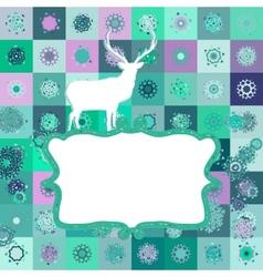 Christmas deer tempate card EPS 8 vector image