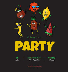 fruit party vector image