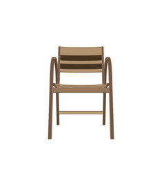 chair wooden isolated furniture vintage design vector image