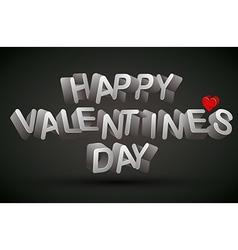 Happy Valentines Day phrase vector image vector image