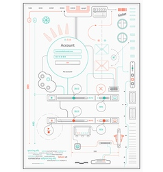 infographics drawing a schematic abstraction vector image vector image