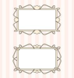 retro fancy art deco frames vector image vector image
