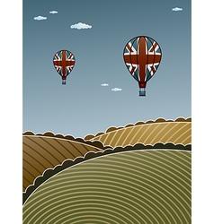 uk hot air balloons vector image vector image