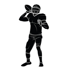 american football players silhouette vector image