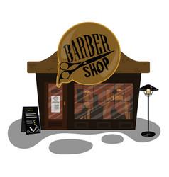 cartoon barber shop small building is a vector image