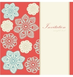 Christmas vintage card invitation lace vector image vector image